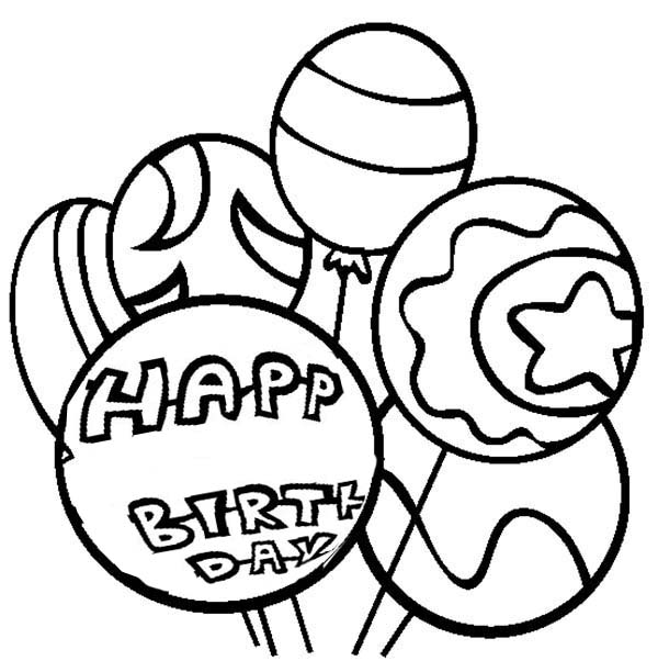 balloon happy birthday balloon coloring page happy birthday balloon coloring pagefull size image