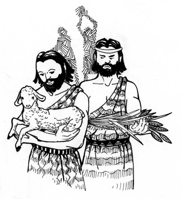 cain and abel coloring page pages