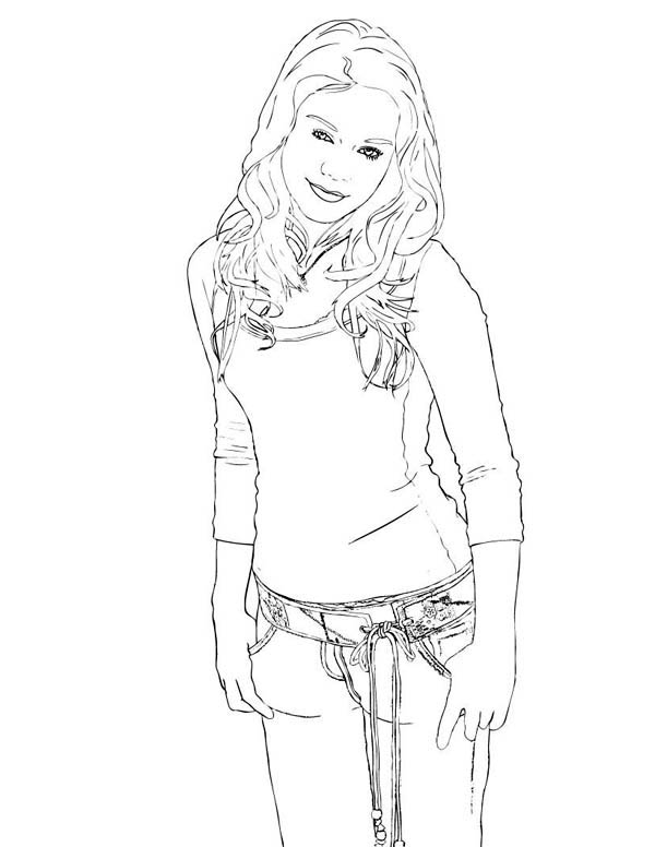 The Charming Sharpay Evans in High School Musical Coloring Page
