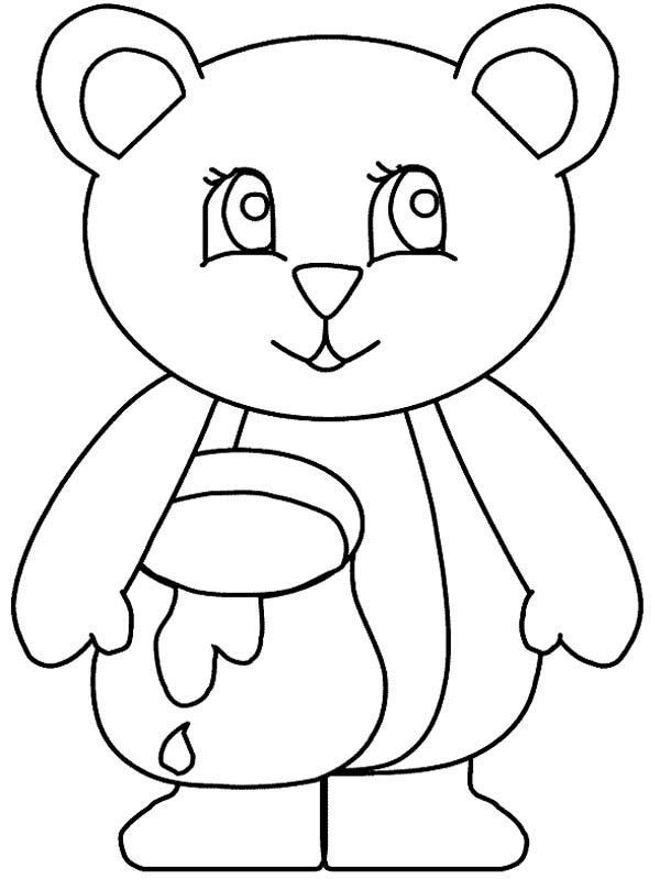 honey honey and bear coloring page honey and bear coloring pagefull size image