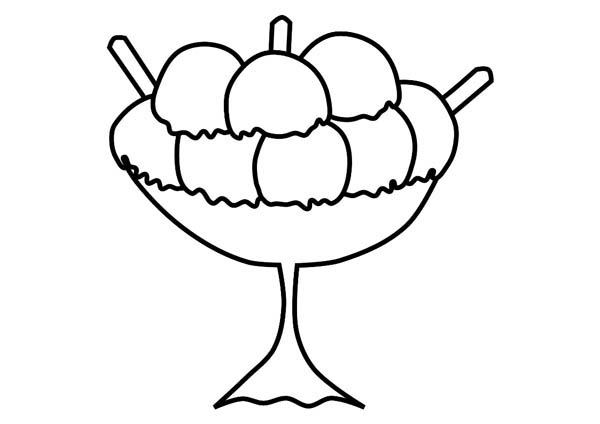 A Lot Of Scoop Ice Cream Coloring Page