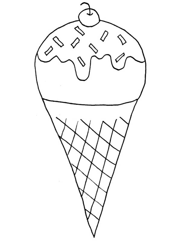 Coloring Sheets Ice Cream Sundae  Coloring Pages For Kids and All