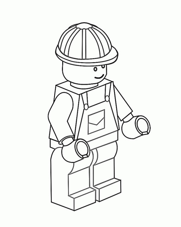 download print it - Construction Worker Coloring Page