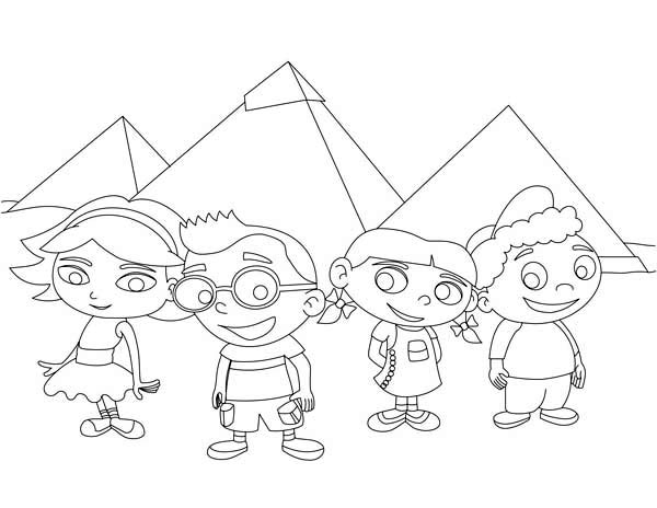 Adventure of Little Einstein in Egypt Coloring Page: Adventure of ...