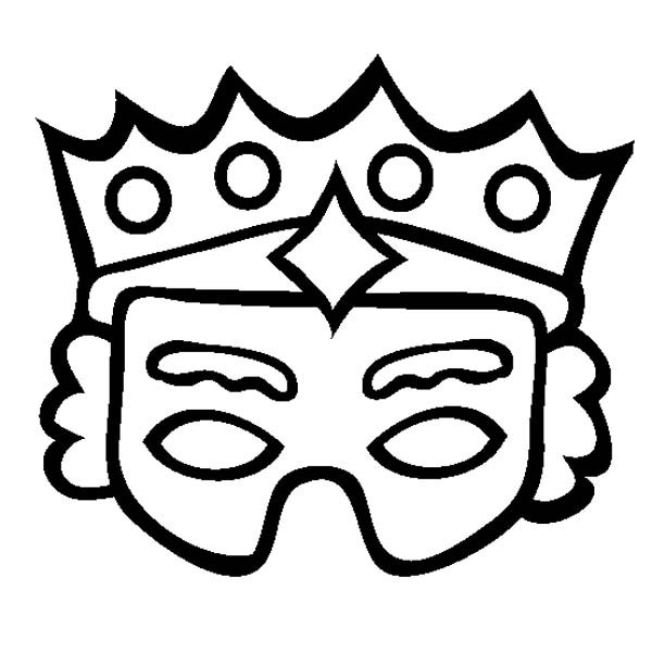 Purim Mask Coloring Page: Purim Mask Coloring Page – Coloring Sky