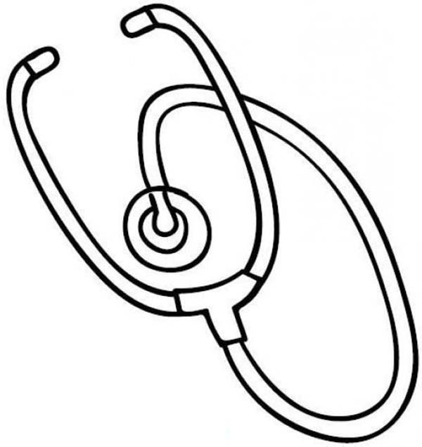 Medical Equipment Stethoscope Coloring Page: Medical Equipment ...