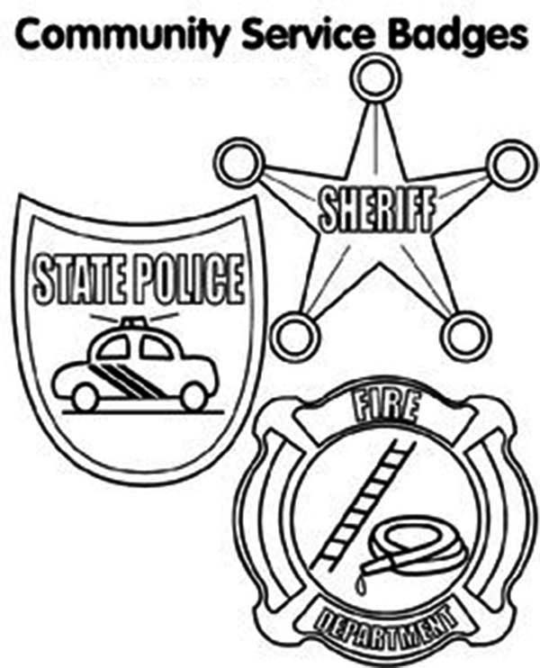 Community Service Badge Coloring Page: Community Service Badge ...