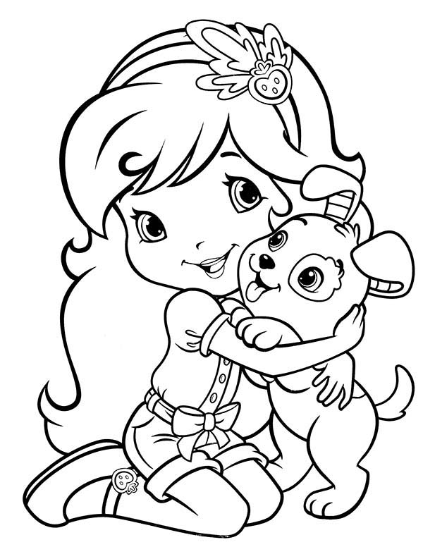Strawberry Shortcake Had Little Funny Dog Called Pupcake Coloring ...