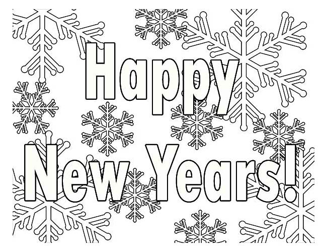 Happy New Year Coloring Pages Stunning Joyful And Happy New Years Decoration On 2015 New Year Coloring Decorating Design
