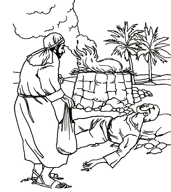 abel cain abel killed by cain in abel and cain coloring page