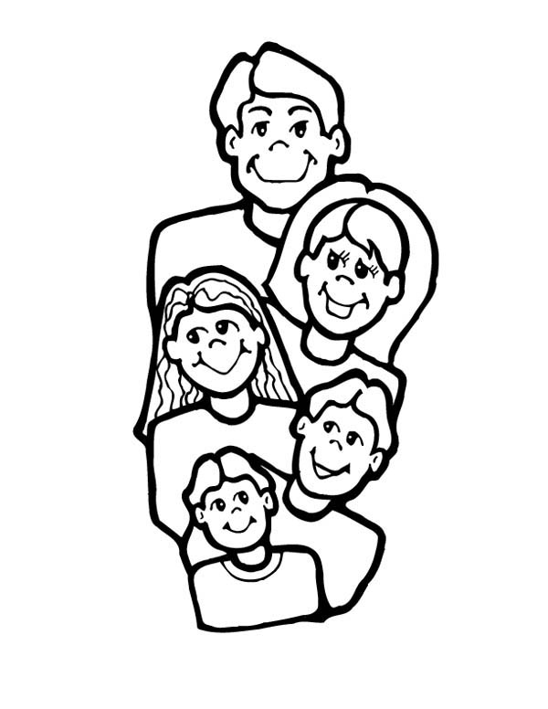 coloring pages family members - photo#21