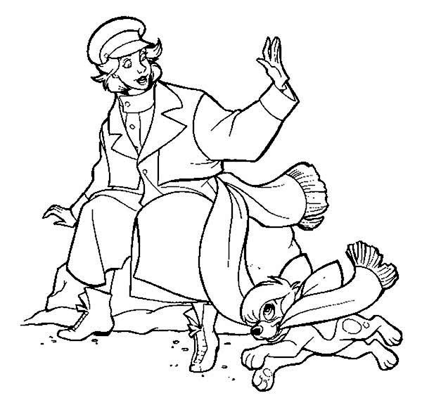 Anastasia Say Dont Be Naughty To Pooke Coloring Page