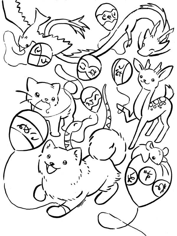 Animal Japan Coloring Page | Coloring Sky