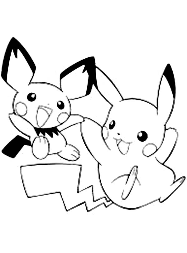 anime pikachu coloring page