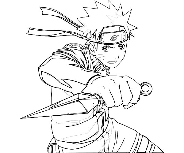 Anime uzumaki naruto coloring page coloring sky for Anime coloring pages naruto