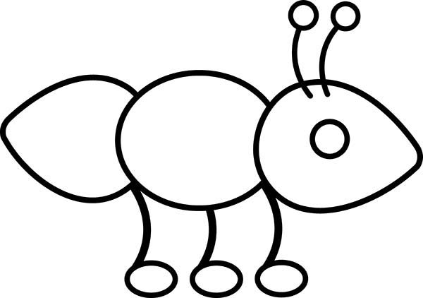 ant outline picture coloring page coloring sky