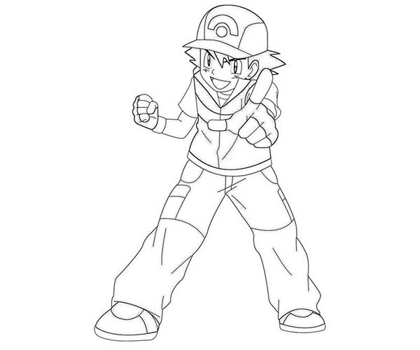 ash and pokemon coloring pages - photo#49