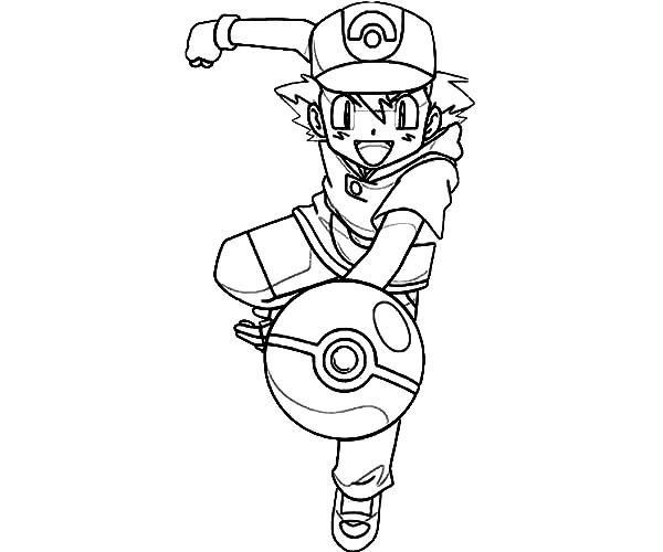 ash ketchum coloring pages - photo#11