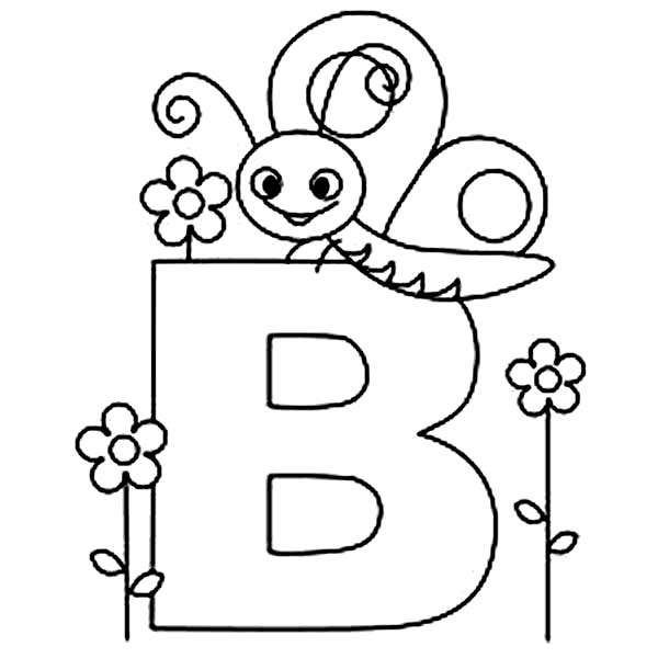 b for butterfly coloring pages - photo#7