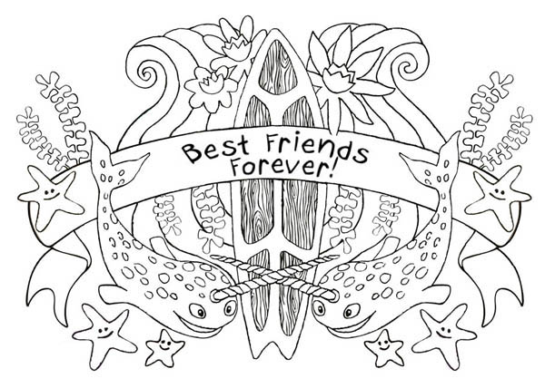 Best Friends Forever On Friendship Day Coloring Page