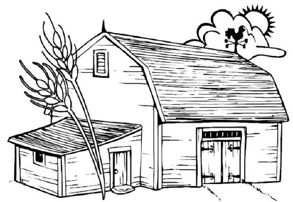 barns free colouring pages