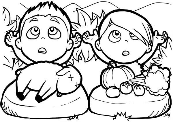 cain and abel coloring pages - photo#20