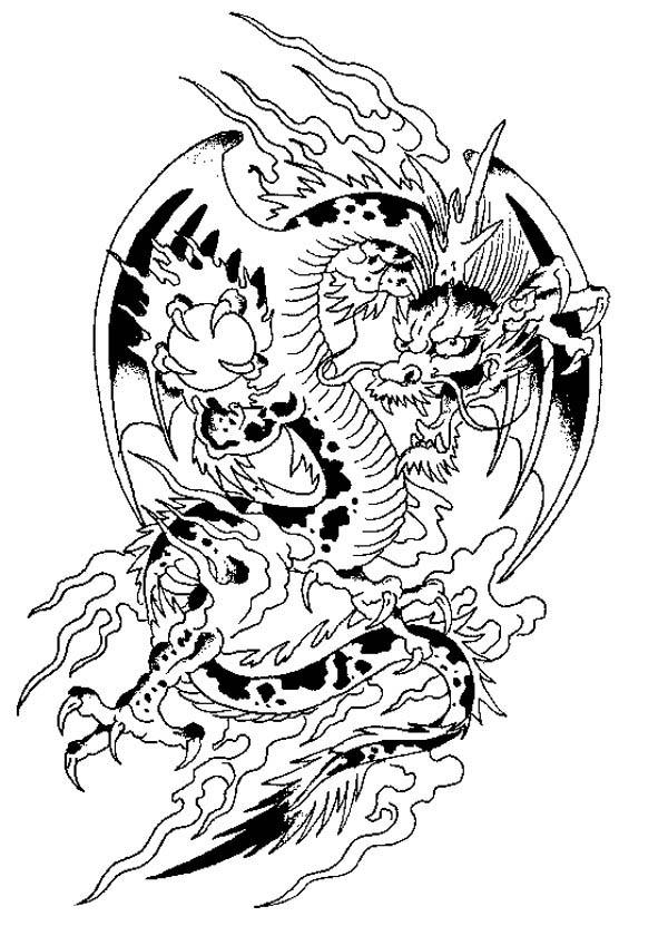 Chinese Fantasy Animal Coloring