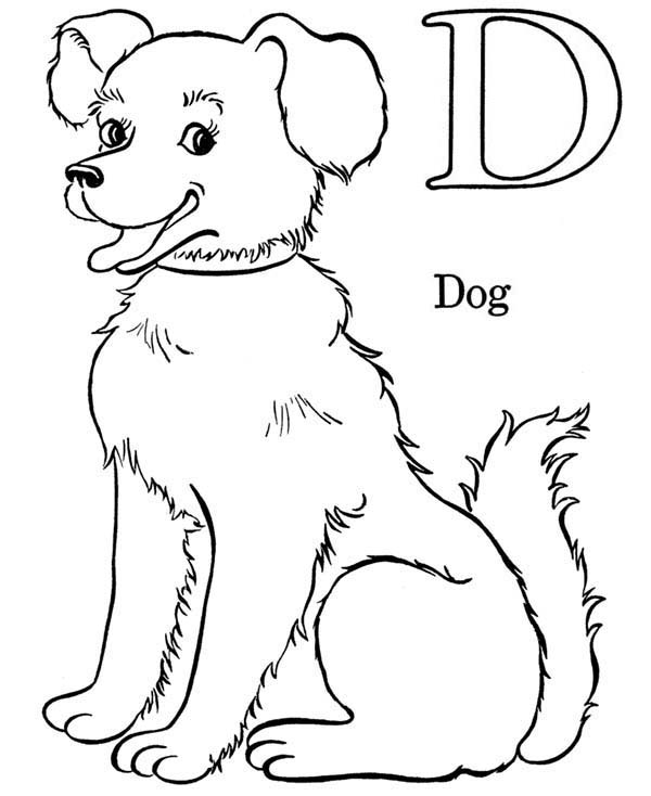 d for dog coloring pages - photo #13