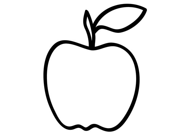apple white coloring pages - delicious apple coloring page coloring sky