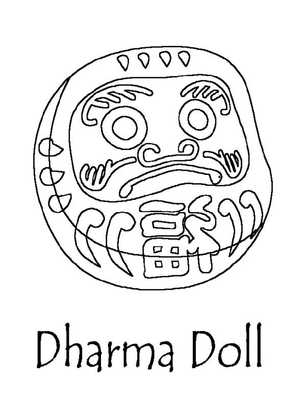 Dharma Doll Japan Coloring Page | Coloring Sky