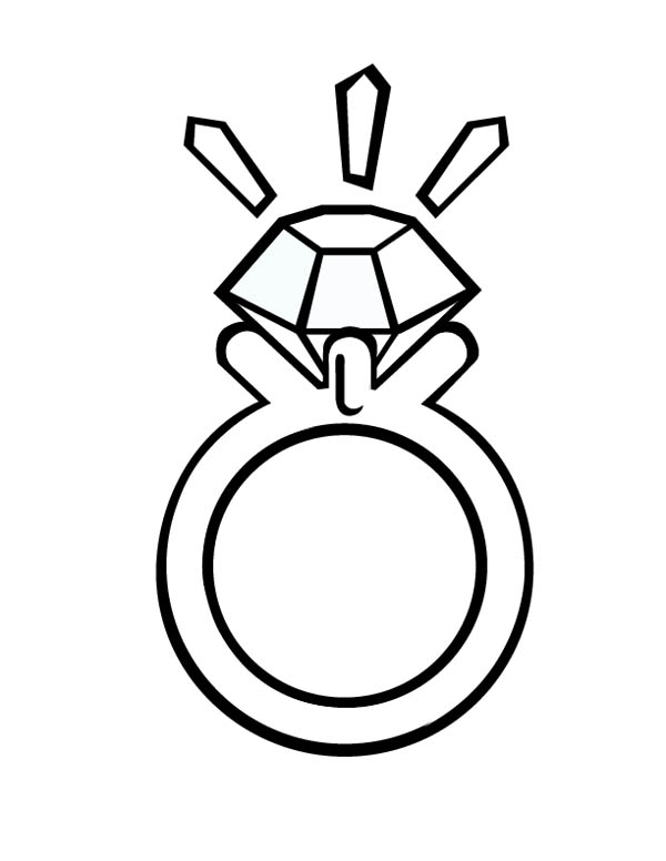 Ring free colouring pages for Diamond coloring page