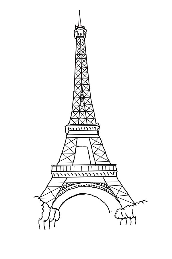 Eiffel Tower Of French Coloring Page Coloring Sky