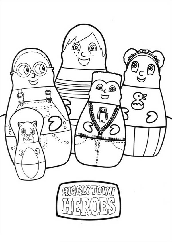 higglytown heroes coloring pages everybodys happy in higglytown heroes coloring page