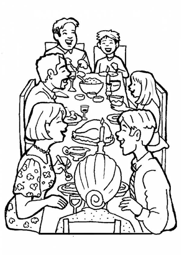 Diner coloring coloring pages for Dinner coloring pages