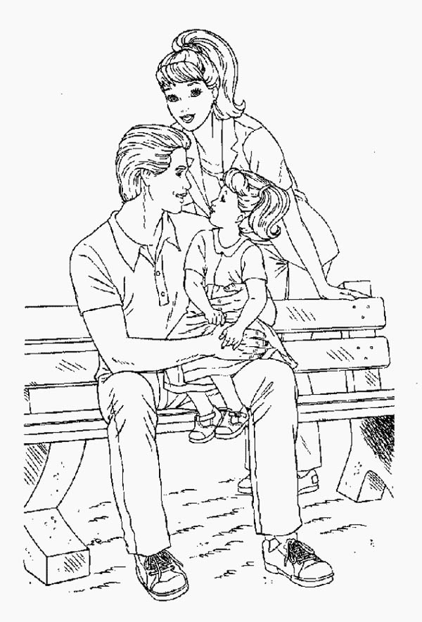 park bench coloring pages photo23