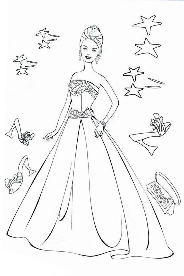 fashion model mix match for latest model of wedding dress coloring page