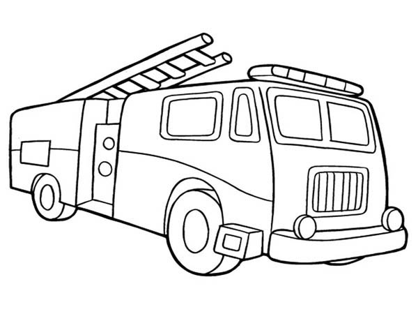 fire truck coloring page for kids - Fire Truck Coloring Page