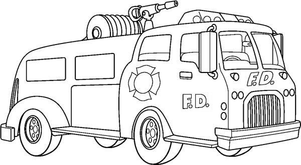 fire truck coloring pictures black and white coloring pages