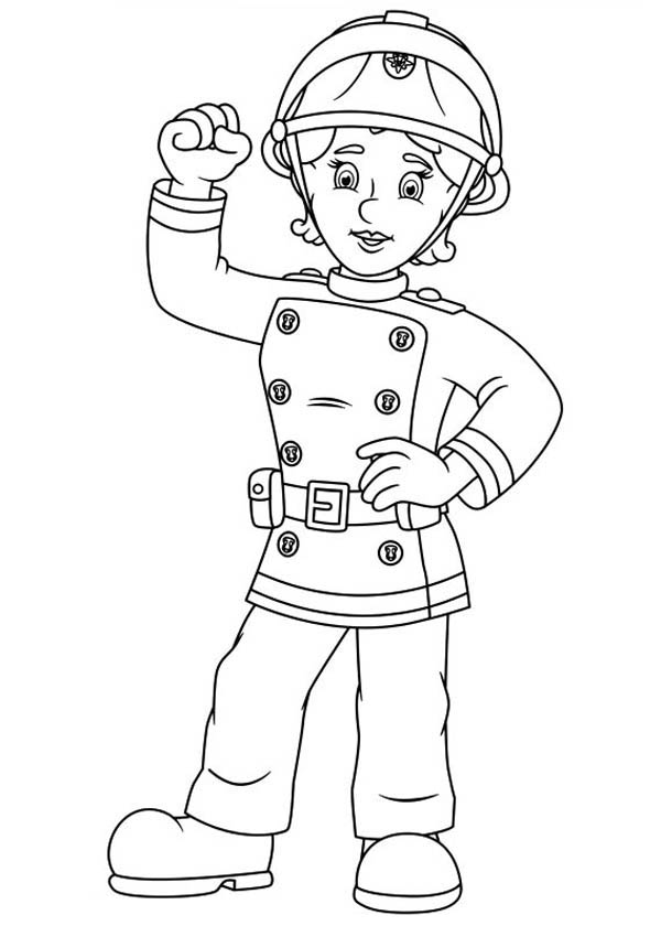 Fireman Sam Friend Penny Morris Coloring Page Coloring Sky