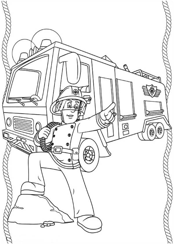 fireman and policeman coloring pages - photo#43