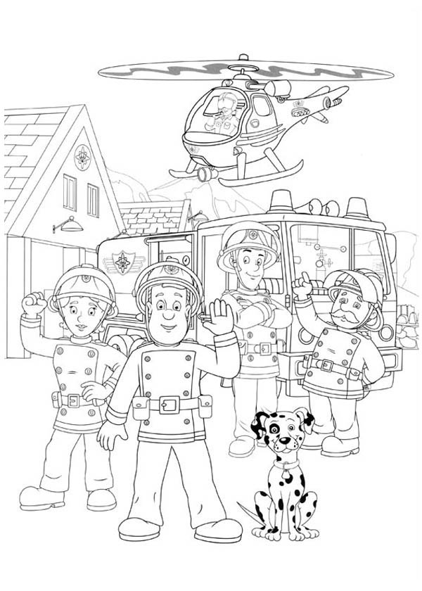 fireman and policeman coloring pages - photo#29