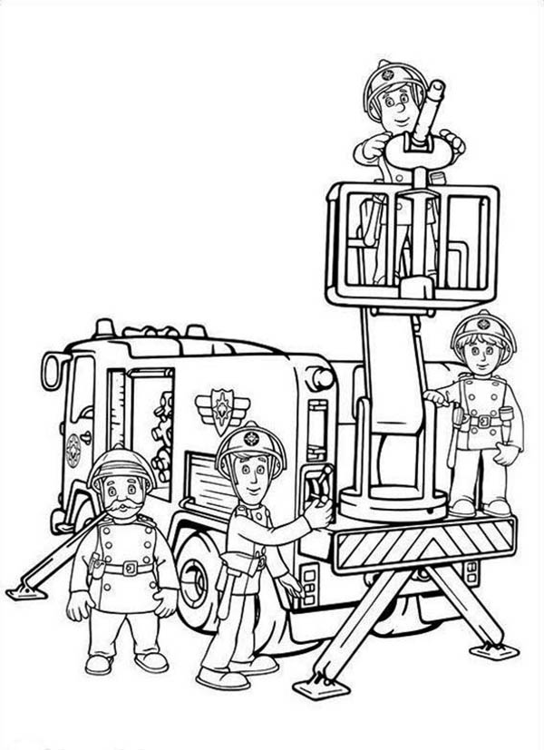 fireman and policeman coloring pages - photo#27