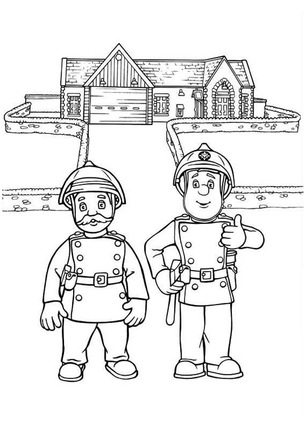 fireman and policeman coloring pages - photo#14