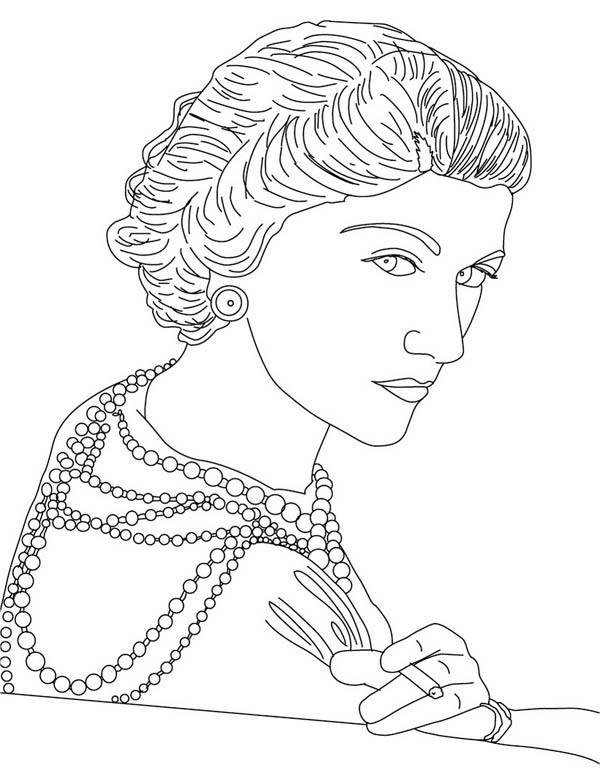 french designer coco chanel coloring page - Coloring Page Coco