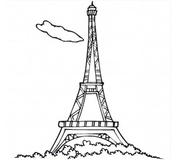french eiffel tower coloring page - France Eiffel Tower Coloring Page