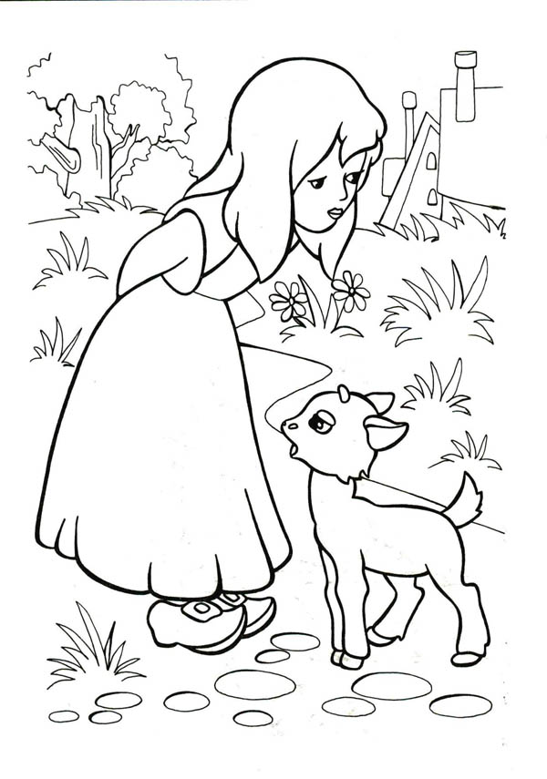 crippled lamb coloring pages - photo#44