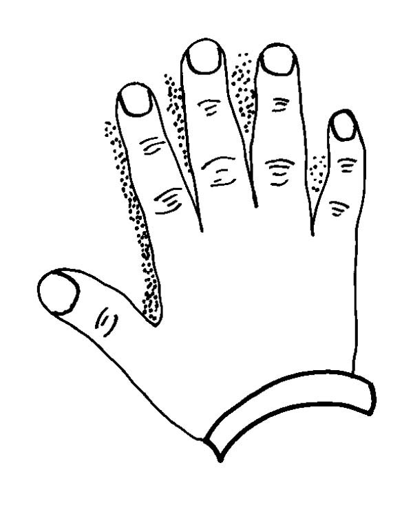 hand coloring page for kids - Hand Coloring Page