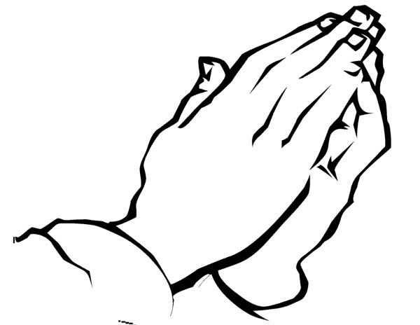 Hand Praying To God Coloring Page
