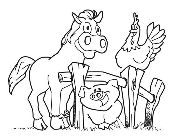 Happy Animal Farm Coloring Page: Happy Animal Farm ...