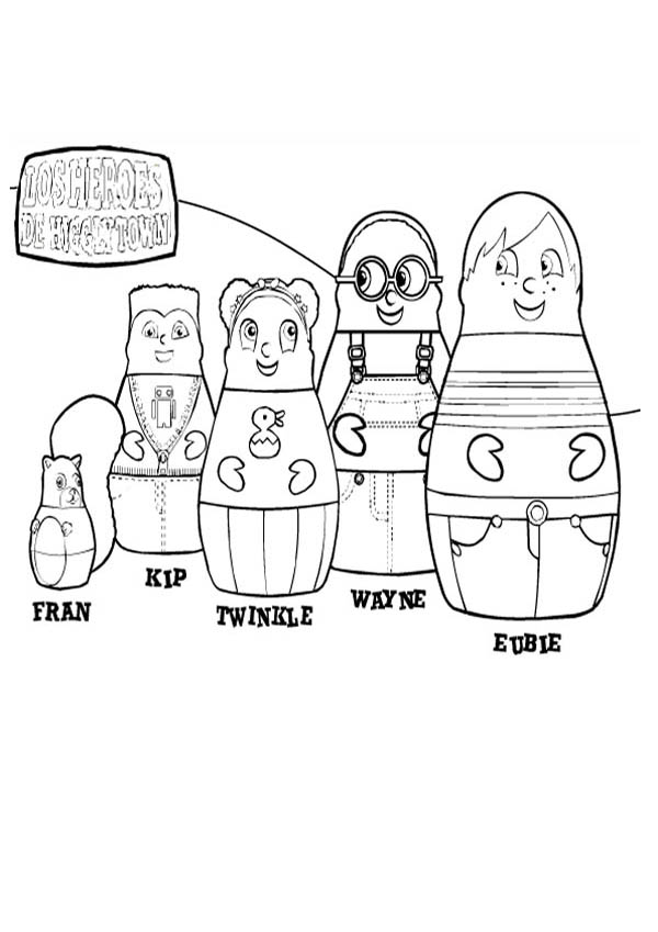Higglytown heroes all characters coloring page coloring sky for Higglytown heroes coloring pages